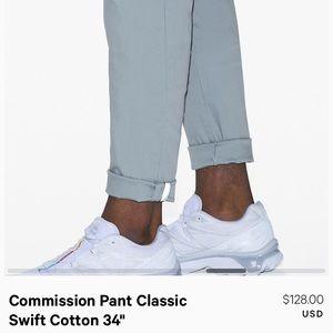 Lululemon Commission Pant Classic Swift Cotton